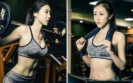 Nữ trợ giảng Bách khoa xinh đẹp khoe dáng chuẩn khi tập gym