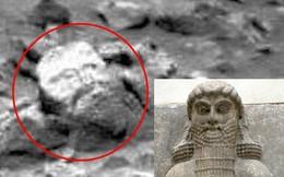 Phát hiện đá hình mặt người trên sao Hỏa