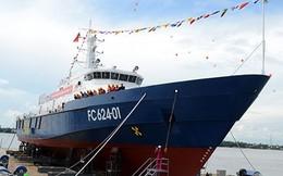 Hạ thủy thành công tàu tuần tra kết hợp tìm kiếm cứu nạn xa bờ