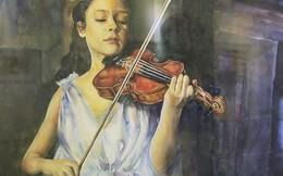 Thiếu nữ tuyệt đẹp qua những nét vẽ tranh màu nước