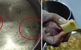 Trường mẫu giáo cho trẻ ăn cơm mốc, khoai tây mọc mầm
