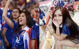 """Nữ CĐV Thái Lan xinh đẹp """"thiêu đốt"""" sân Mỹ Đình"""