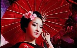 Hot girl HV Ngoại giao hóa thân thành nàng geisha Nhật