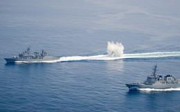 24h qua ảnh: Tàu chiến Hàn Quốc thả bom chống tàu ngầm