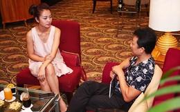Jennifer Phạm trò chuyện thân thiết với danh hài Vân Sơn
