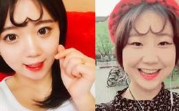 Cực 'dị' với tóc mái trái tim của giới trẻ Hàn Quốc