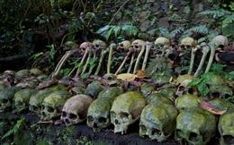 Rợn người nghĩa địa lộ thiên đầy đầu lâu ở đảo Bali