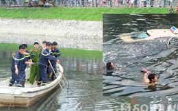 Chủ quán trà đá leo lên xe taxi rồi lao xuống sông Tô Lịch