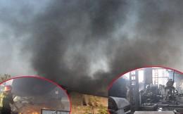 Hơn 200 người phá cửa, chữa cháy tại công ty gỗ