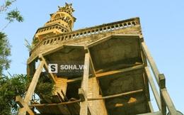 """""""Choáng ngợp"""" với tòa tháp 9 tầng do lão gàn xứ Nghệ tự tay xây"""