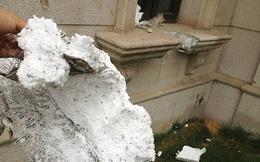 Người dân tá hỏa phát hiện tường của biệt thự cao cấp được xây bằng nhựa xốp