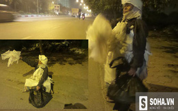 Người phụ nữ quấn đồ trắng xuất hiện giữa đêm khuya tại Hà Nội