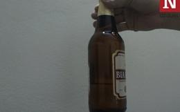 Phát hiện chai 'Bia Hà Nội' bị 'ngót' và vẩn đục?