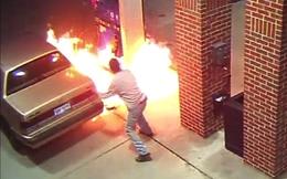 """""""Chàng trai trong truyền thuyết"""": Bật lửa soi xăng, thiêu trụi cả trạm"""