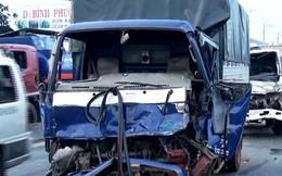 5 ôtô tông nhau, kẹt xe 3km trên Quốc lộ 1A