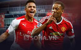 """Arsenal vs Man United: """"Nghiền nát"""" Pháo, giữ đỉnh cao!"""