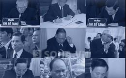 Infographic: Cận cảnh nét bút, cảm xúc của lãnh đạo trong sổ tang ông Bá Thanh
