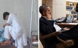 """Obama gác chân trong cuộc họp và """"cái giẫm chân"""" của anh bác sĩ VN"""