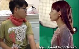 """Đức Phúc The Voice """"nhái"""" điệu bộ của hot girl Chi Pu"""