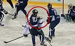 Tai nạn kinh hoàng: bị dao cứa cổ khi đang thi đấu hockey
