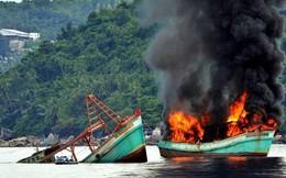 Lần đầu tiên Indonesia đánh chìm tàu cá của Trung Quốc