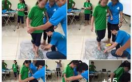"""Dạy học sinh lớp 1 đi trên thảm thủy tinh: """"Tôi sợ không dám thử"""""""