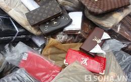 Cảnh sát bắt gần 2 nghìn túi xách, ví nhái hàng hiệu nổi tiếng