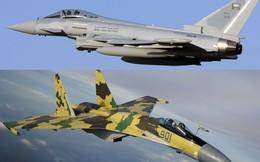 """Khi Su-35 chạm trán """"kỳ phùng địch thủ"""" châu Âu..."""