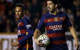 Chết ngất với trò cá độ của Suarez và Neymar