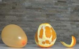 Đừng bao giờ cho trẻ chơi bóng bay khi đang ăn cam, quýt