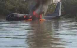 Máy bay không quân Malaysia bốc cháy, rơi xuống biển Kuala Selangor