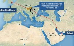 Chiến đấu cơ Hungary áp sát máy bay chở khách Anh