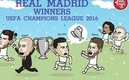 Ảnh chế: Ronaldo giữ chặt, không dám cho Ramos chạm vào cúp