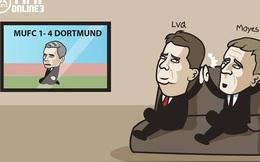 Mourinho thảm bại, Van Gaal đập tay ăn mừng với David Moyes
