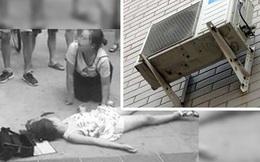 Cục nóng điều hòa bất ngờ rơi từ tầng 22 xuống đất, trúng người bé gái 8 tuổi