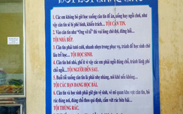 Xuất hiện bảng nội quy lạ trong căng tin trường chuyên Lê Quý Đôn