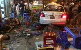 Tài xế uống rượu, lao xe lên vỉa hè gây tai nạn nghiêm trọng