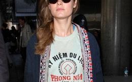 """Mỹ nhân """"King Kong 2"""" trở về Mỹ với áo phông Quảng Bình"""