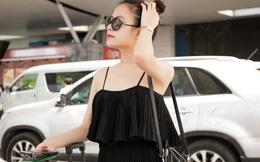 Hoàng Thùy Linh mặc như vậy khi ra sân bay