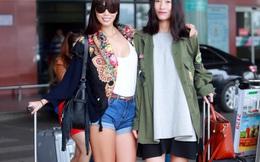 Hà Anh và dàn chân dài mặc gợi cảm gây chú ý tại sân bay