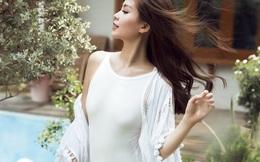 Á hậu Diễm Trang vẫn tự tin diện áo tắm khi mang bầu 4 tháng