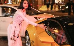 Hạ Vi gây chú ý khi được Cường Đô la đưa đón bằng siêu xe