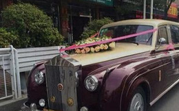 Ngã ngửa với đám cưới sang trọng toàn xe siêu sang Rolls-Royce nhái