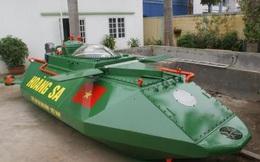Tàu ngầm mini Hoàng Sa hoàn thiện thêm bước mới