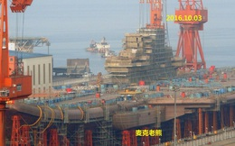 Hình ảnh mới nhất về tàu sân bay tự đóng của Trung Quốc