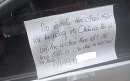 Lá thư dán lên kính xe ô tô của học sinh lớp 11 ở Hải Phòng và cái kết gây sốt cộng đồng