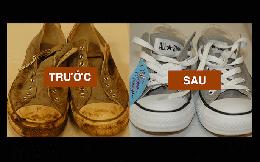 Giày có ố bẩn thế nào cũng sẽ trắng đẹp như mới trong nháy mắt nếu làm theo hướng dẫn sau