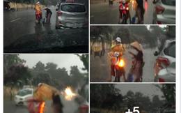 Dừng xe giữa đường mặc áo mưa cho cụ già: Trước khi ca ngợi, hãy biết rùng mình
