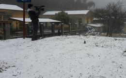 Yên Bái, Tam Đảo ngoài tuyết phủ trắng còn xuất hiện mưa đá
