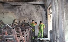 Cháy trong trường tiểu học, học sinh hoảng loạn
